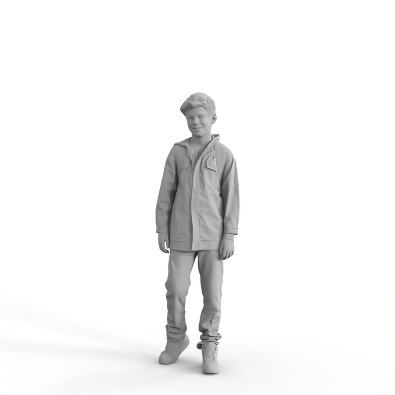 Casual Family | cboy0303hd2o01p01s | Ready-Posed 3D Human Model (boy)