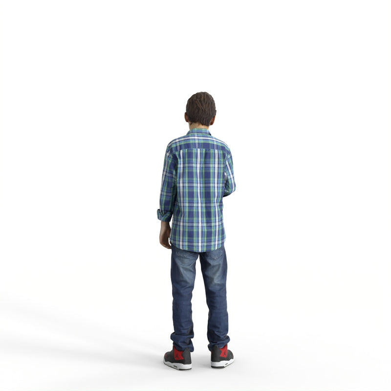 Casual Family | cboy0303hd2o02p01s| Ready-Posed 3D Human Model (boy)