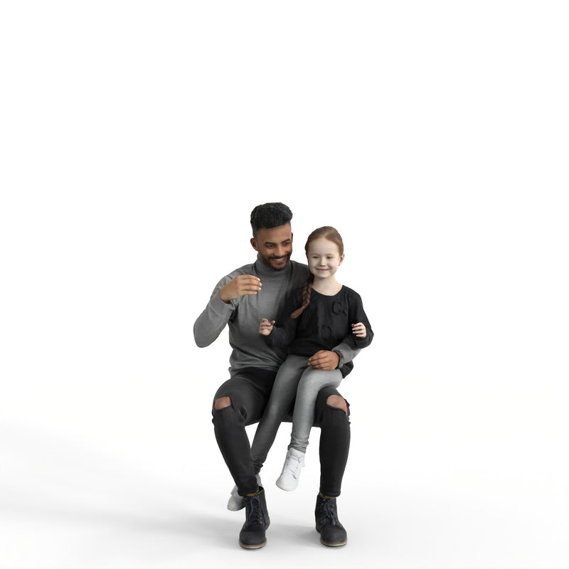 AXYZ Casual Family Bundle | memss064hd2 | Ready- Posed 3D Human Model