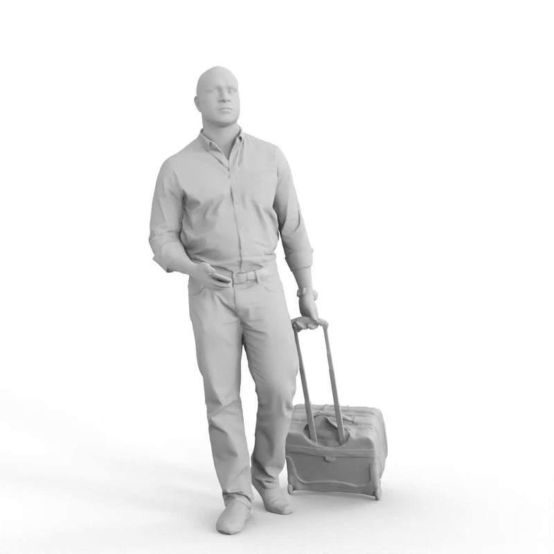 AXYZ Design | Traveling Man | cman0215hd2o01p01s | Ready- Posed 3D Human Model