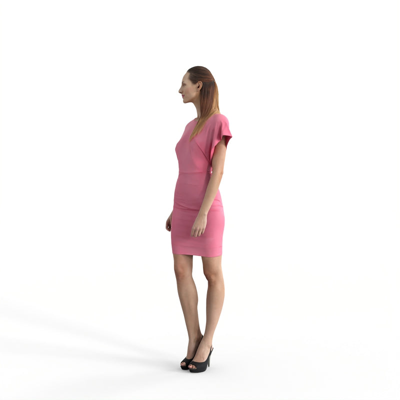 Formal Woman | ewom0317hd2o01p01s | Ready-Posed 3D Human Model (Woman)
