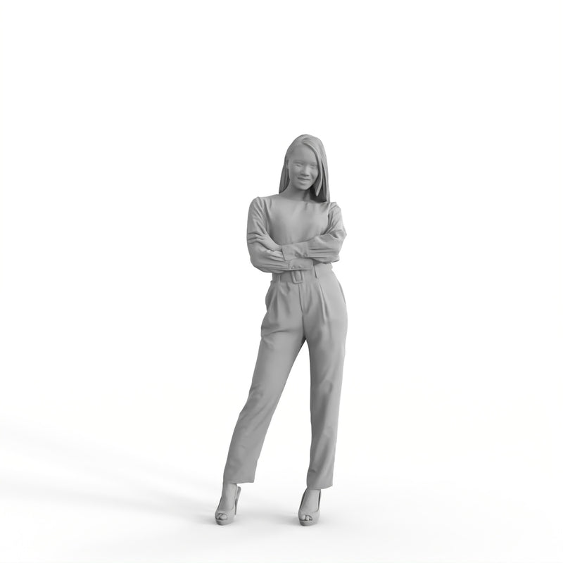 Formal Woman | ewom0319hd2o01p01s | Ready-Posed 3D Human Model (Woman)