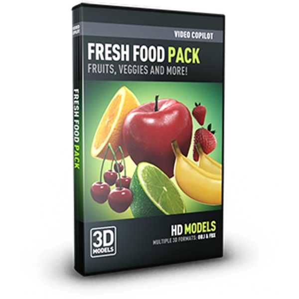 Fresh Food Pack - Professional 3D Models for Element 3D