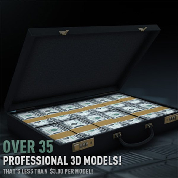 Money & Casino Pack - Professional 3D Models for Element 3D