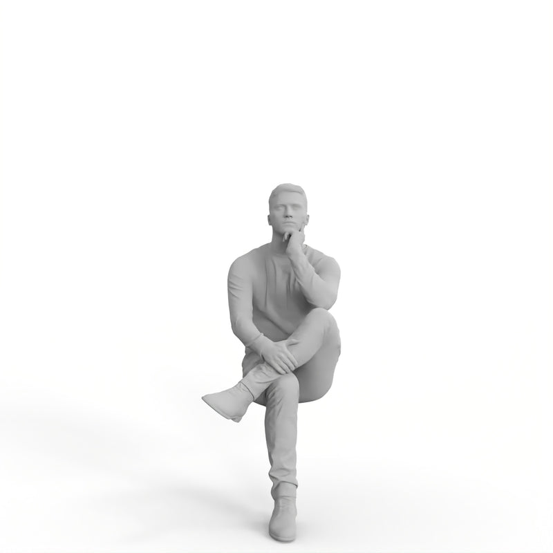 Casual Man | mus0002hd2o01p01s | Ready-Posed 3D Human Model (Man / Still)