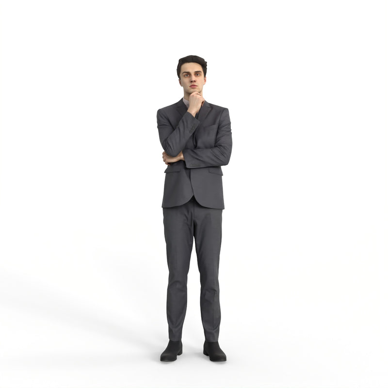 Business Man | mus0003hd2o01p01s | Ready-Posed 3D Human Model (Man / Still)