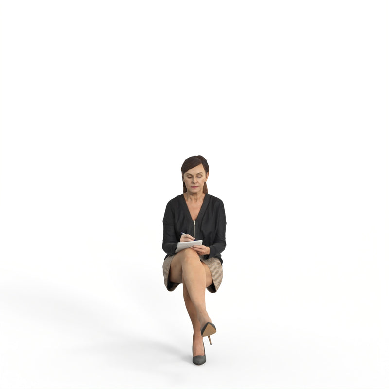 Business Woman | mus0006hd2o01p01s | Ready-Posed 3D Human Model (Woman / Still)