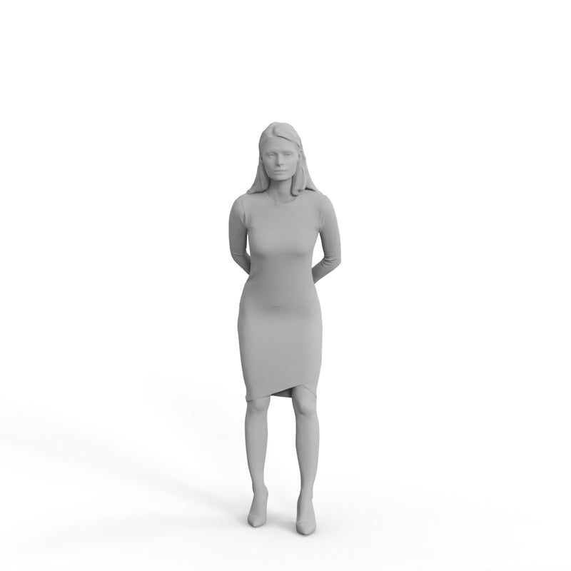 Casual Woman | mus0007hd2o01p01s | Ready-Posed 3D Human Model (Woman / Still)