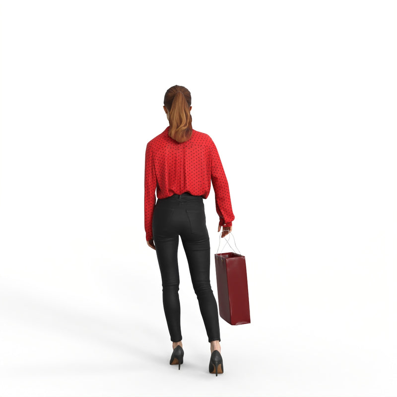 Casual Woman | mus0008hd2o01p01s | Ready-Posed 3D Human Model (Woman / Still)