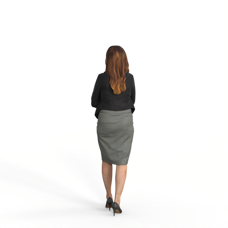 Business Woman | mus0009hd2o01p01s | Ready-Posed 3D Human Model (Woman / Still)