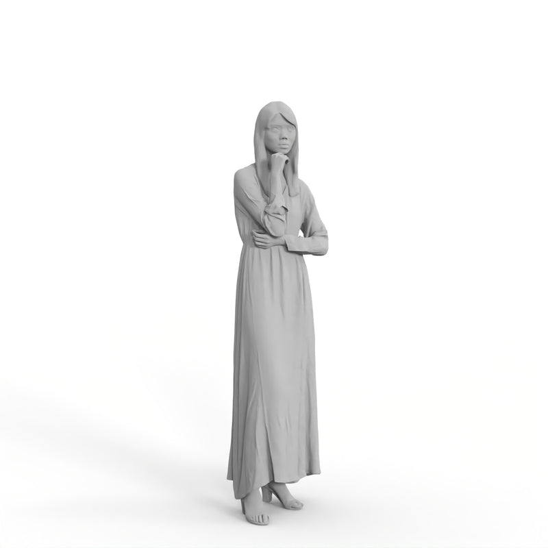 Casual Woman | mus0010hd2o01p01s | Ready-Posed 3D Human Model (Woman / Still)