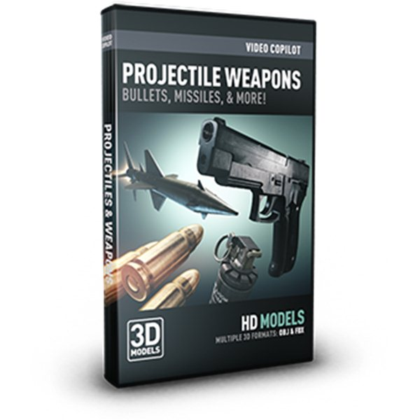 Projectile Weapons - Professional 3D Models for Element 3D