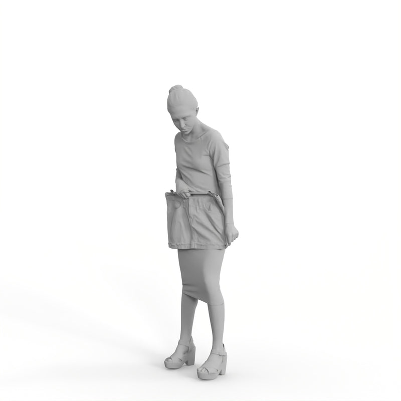 Casual Woman| shp0006hd2o01p01s | Ready-Posed 3D Human Model (Woman / Still)