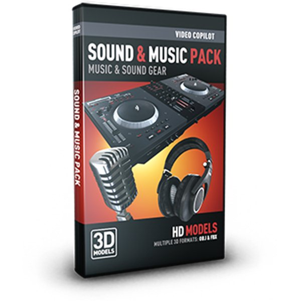 Sound & Music Pack - Professional 3D Models for Element 3D