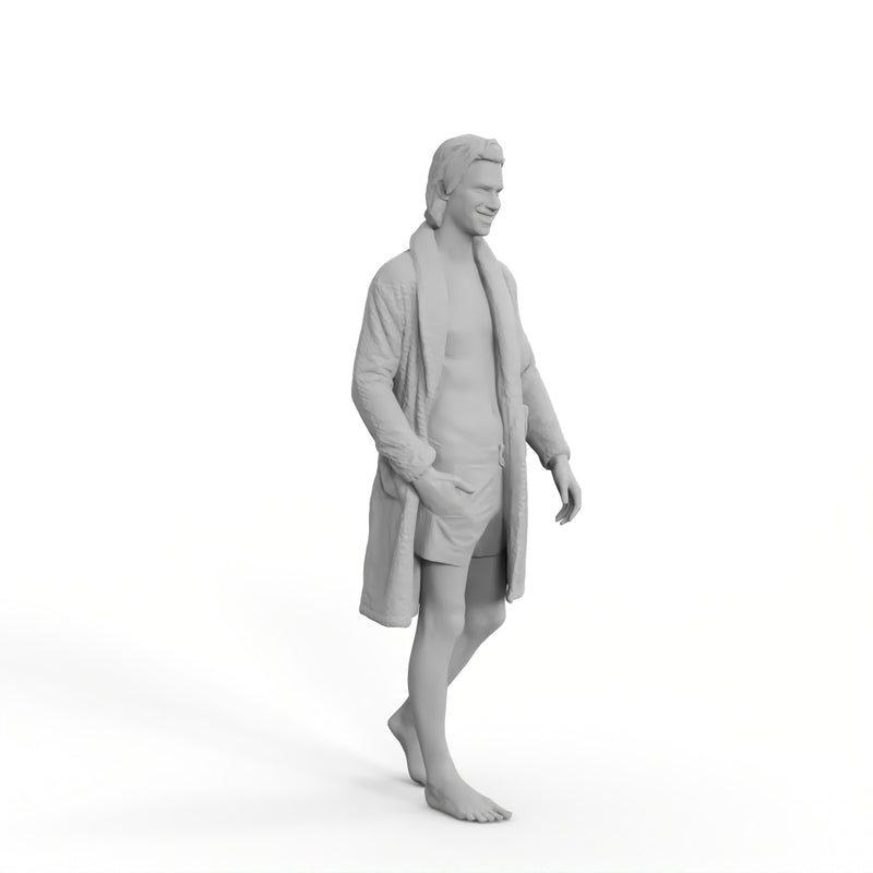 Spa Man | spa0001hd2o01p01s | Ready-Posed 3D Human Model (Man / Still)