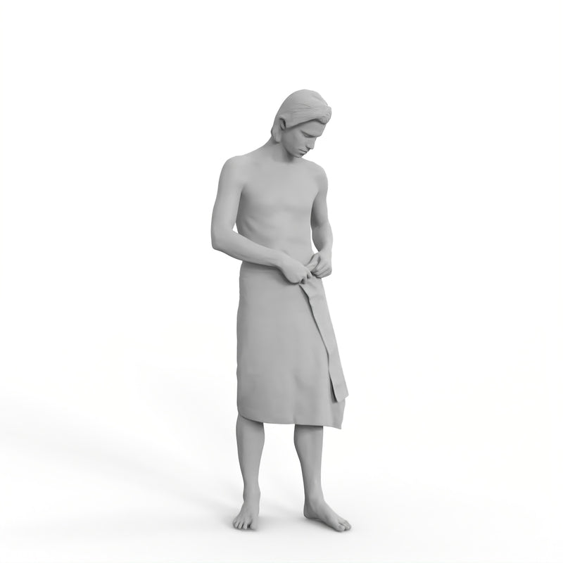Spa Man | spa0003hd2o01p01s | Ready-Posed 3D Human Model (Man / Still)