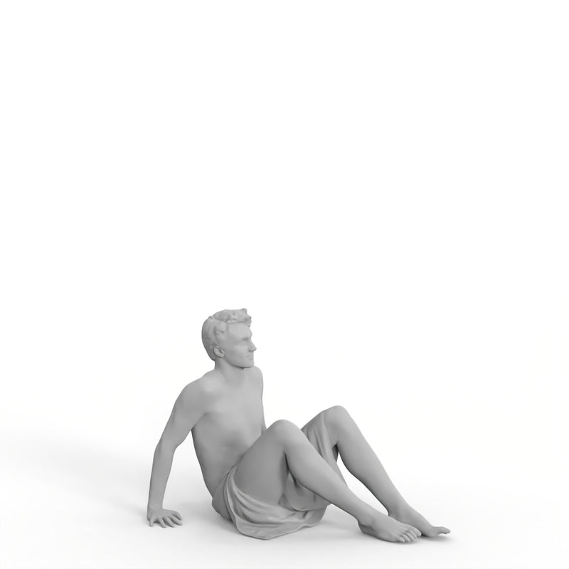 Spa Man | spa0004hd2o01p01s | Ready-Posed 3D Human Model (Man / Still)