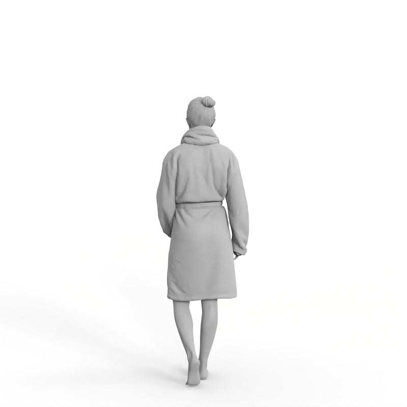 Spa Woman | spa0007hd2o01p01s | Ready-Posed 3D Human Model (Man / Still)