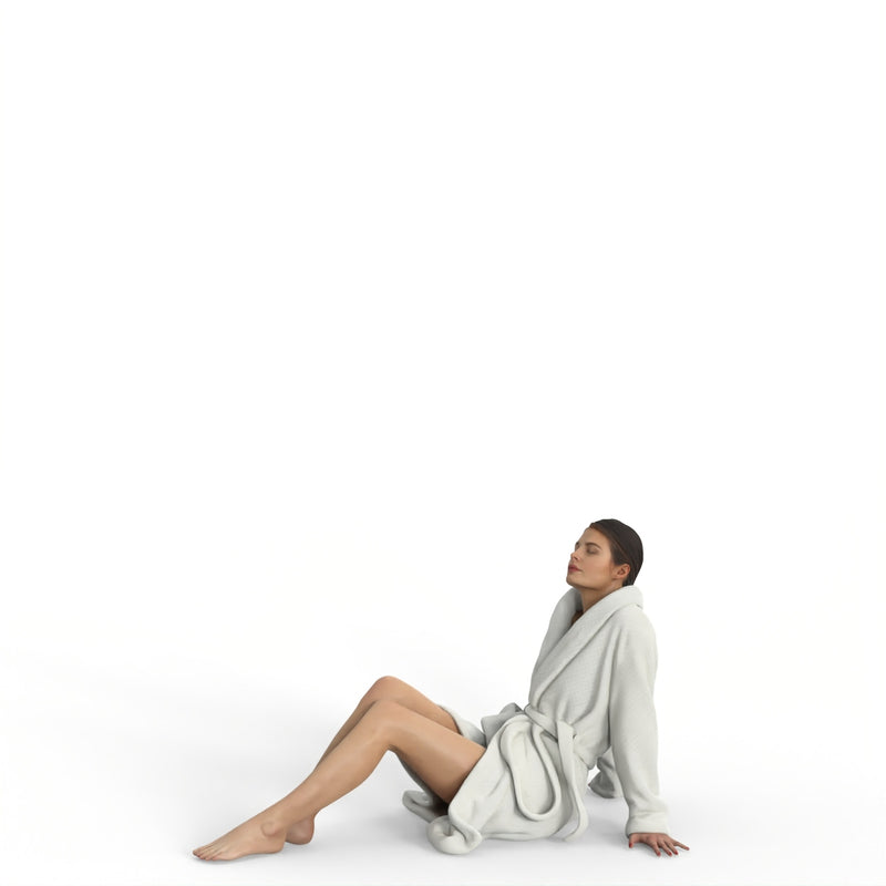 Spa Woman | spa0008hd2o01p01s | Ready-Posed 3D Human Model (Man / Still)