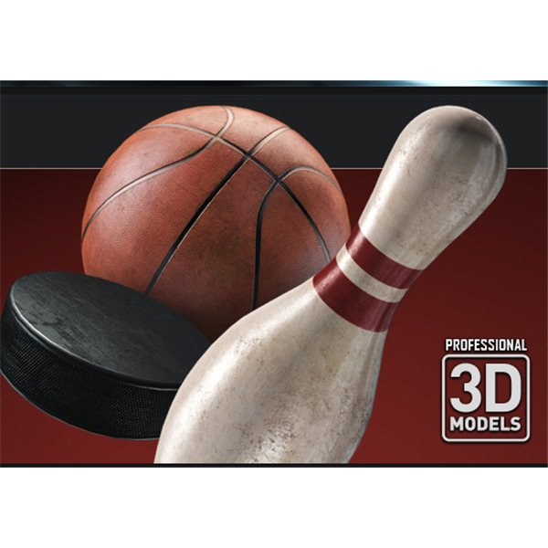 Sports Pack - Professional 3D Models for Element 3D