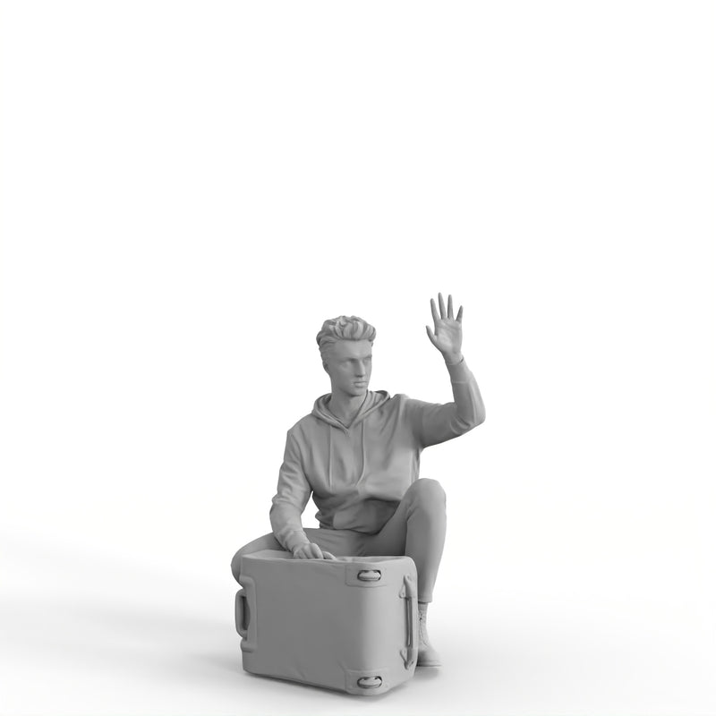 AXYZ Design | Traveling Man | tra0011hd2o01p01s | Ready- Posed 3D Human Model