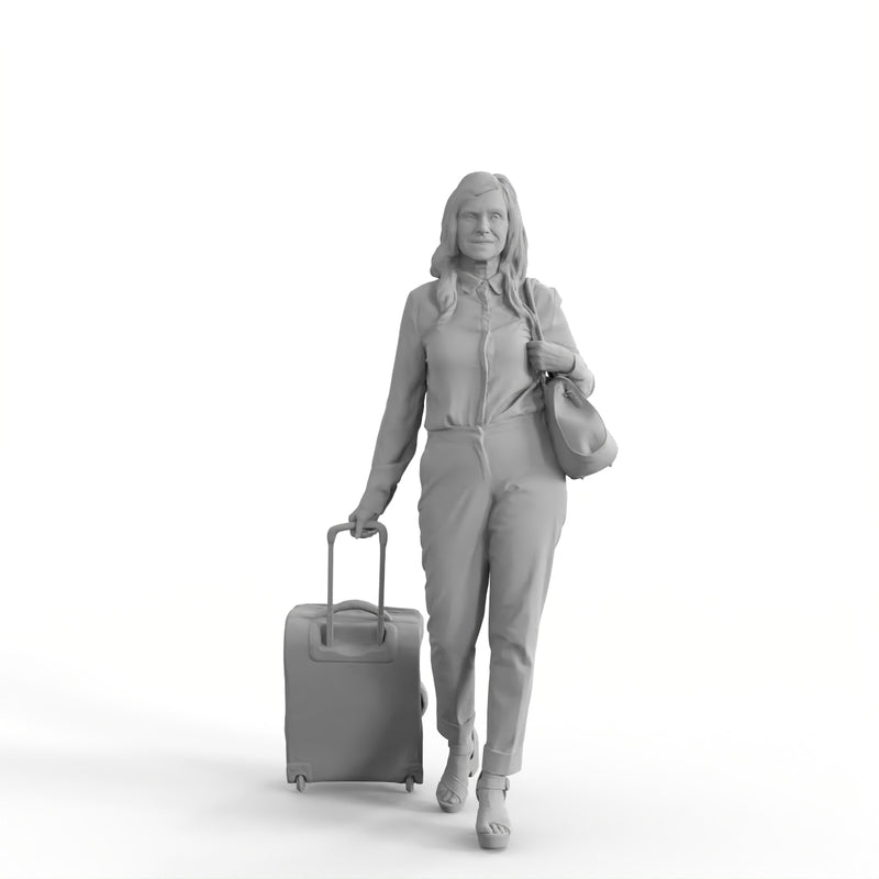 AXYZ Design | Traveling Woman| tra0018hd2o01p01s | Ready- Posed 3D Human Model (Woman)