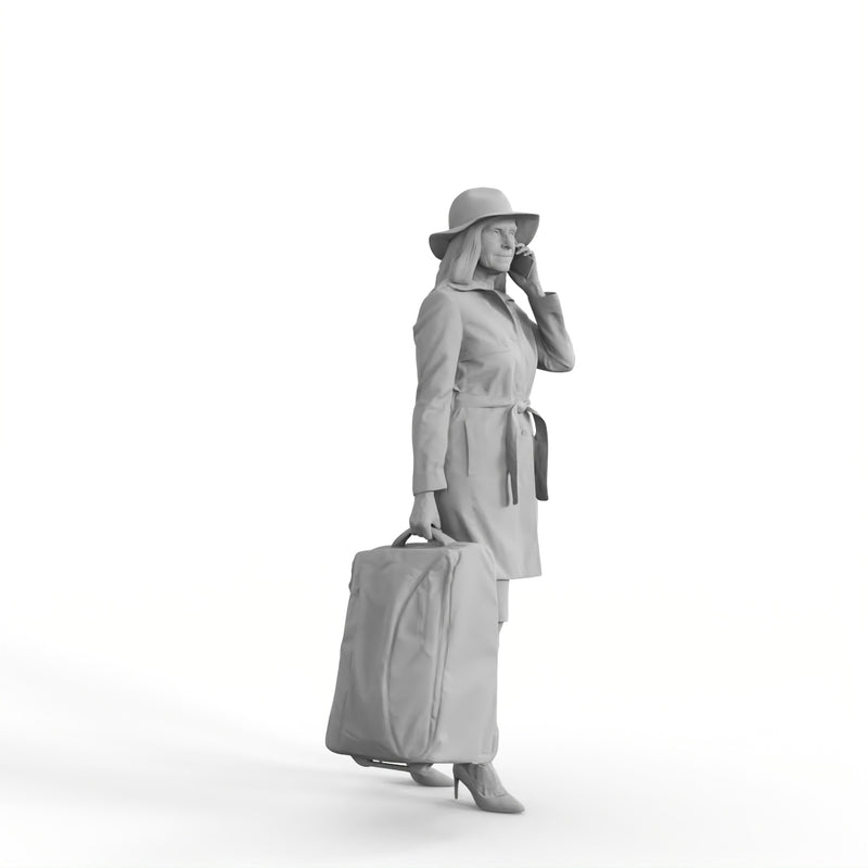 AXYZ Design | Traveling Woman| tra0019hd2o01p01s | Ready- Posed 3D Human Model (Woman)