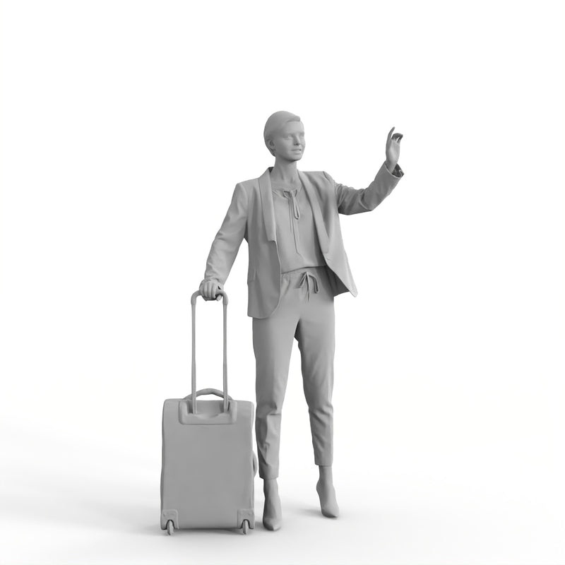 AXYZ Design | Traveling Woman| tra0020hd2o01p01s | Ready- Posed 3D Human Model (Woman)