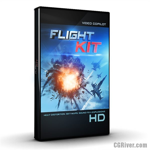 Flight Kit - Over 200 Aircraft Sound FX,  25 HDR Sky Maps, Heat Distortion Plug-in and More from Video Copilot