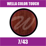 Buy Wella Color Touch 7/43 Medium Red Golden Blonde at Wholesale Hair Colour
