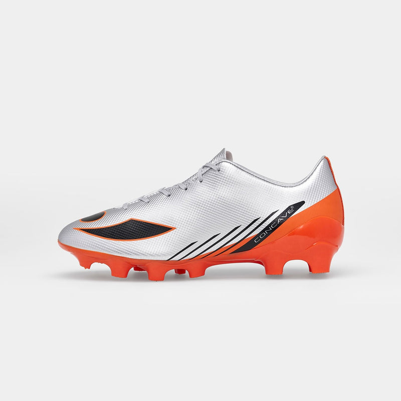 Kids Concave Volt FG - Silver/Red Orange