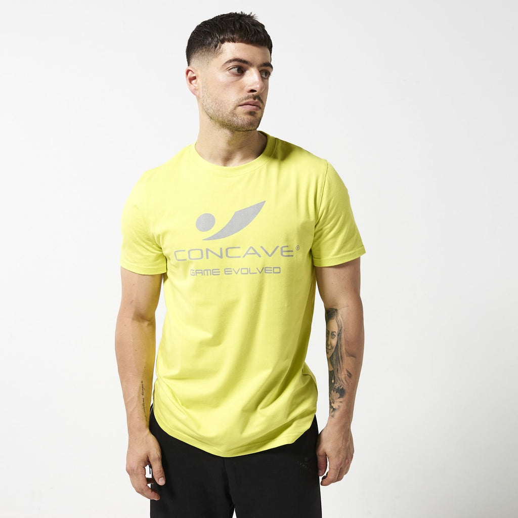 Concave T-Shirt - Lime/Silver