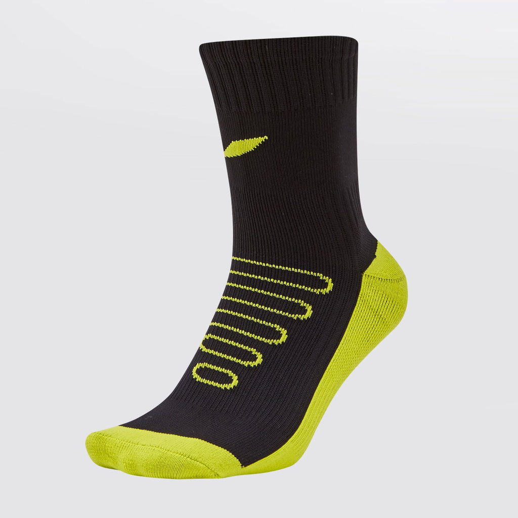 Concave Performance Mid Socks - Black/Lime
