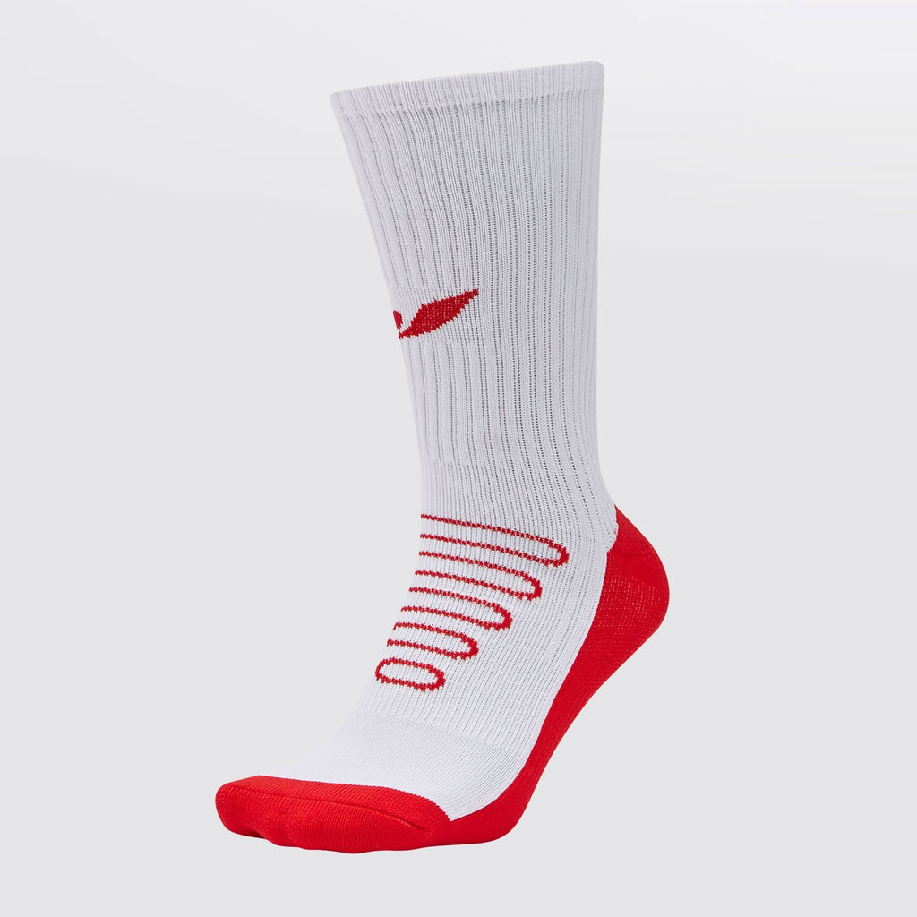 Concave Performance Mid Socks - White/Red