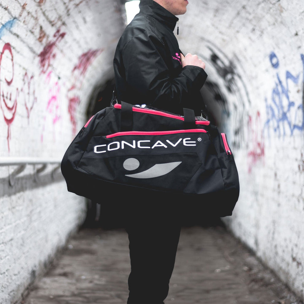 Concave Duffle Bag - Black/Pink