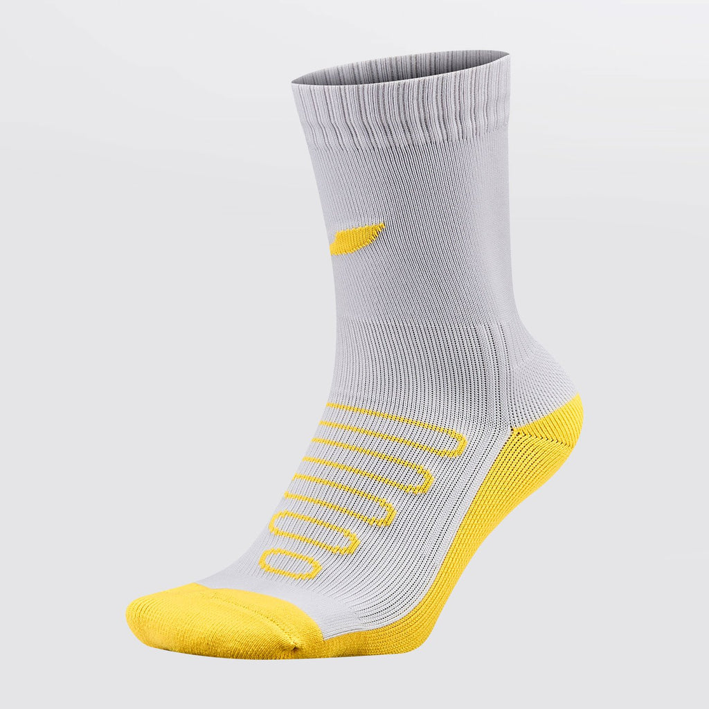 Concave Performance Mid Sock - White/Neon Yellow