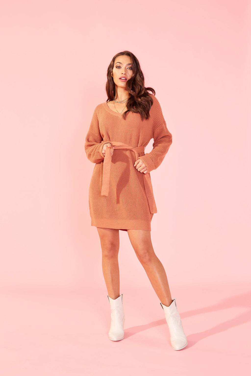 Meg Knit Dress (Sandstone)
