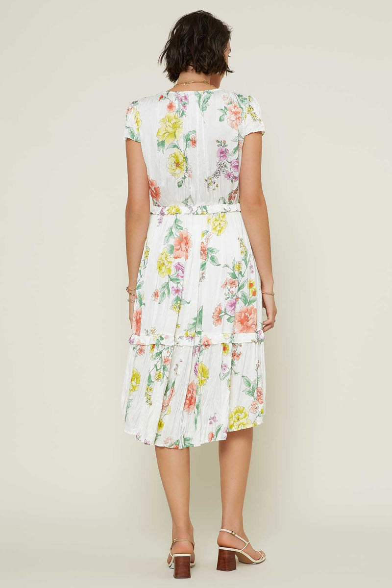 Waverly Midi Dress (White)
