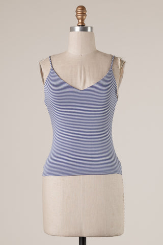 Striped Basic Tank (Blue)
