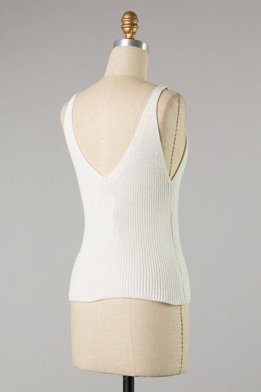 Robyn Knit Tank (White)