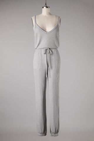 Ribbed Essential Jumpsuit (Grey)
