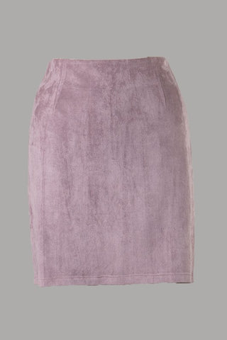 Soft Suede Skirt (Misty Mauve) ONLINE EXCLUSIVE