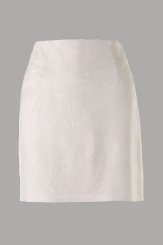 Soft Suede Skirt (Stone) ONLINE EXCLUSIVE