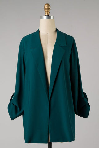 Blazer Style Cardigan (Atlantic Deep) ONLINE EXCLUSIVE