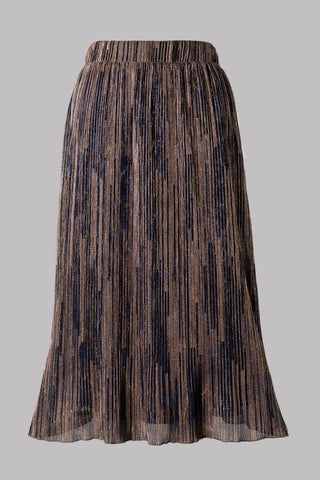 Pleated Multi Toned Skirt (Navy)