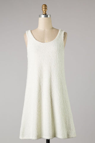 Brushed Knit Tank Dress (Ivory) ONLINE EXCLUSIVE