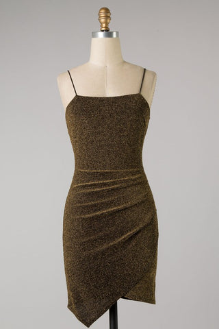 Ruched Metallic Tank Dress (Gold) ONLINE EXCLUSIVE
