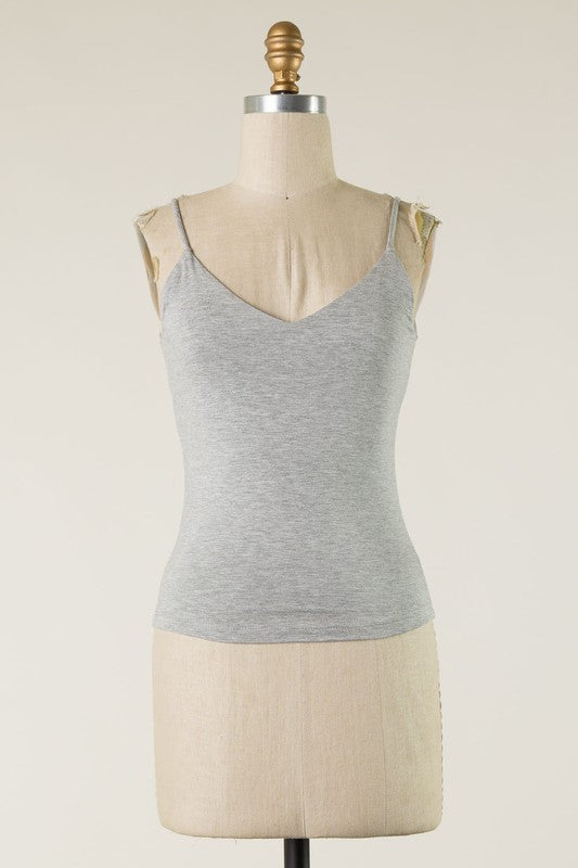 Solid Basic Tank (Heather Grey)