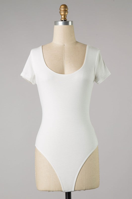Essential Short Sleeve Bodysuit (Ivory)