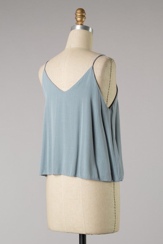 Skimmer Layered Top (Cloud Blue)